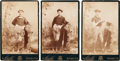 Baseball Cards:Lots, Circa 1880 Mould Studios Baseball Cabinet Photos Trio (3). ...