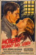 """Movie Posters:Foreign, Life Begins Tomorrow (Forum-Film, 1933). German Poster (37"""" X 56""""). Foreign.. ..."""