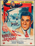 "Movie Posters:Foreign, Rendezvous in Grenada (La Société des Films Sirius, 1952). French Grande (47"" X 63""). Foreign.. ..."
