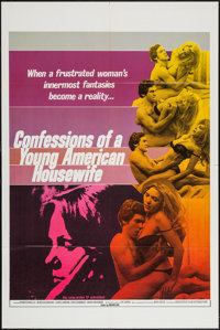 "Confessions of a Young American Housewife (Associated Film Distribution, 1976). One Sheets (35) (28"" X 42""). A..."