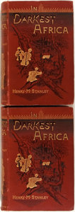 Books:Travels & Voyages, Henry M. Stanley. In Darkest Africa. London: Sampson et al,1890. First edition. Two octavo volumes. Illustrations t... (Total:2 Items)