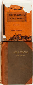 Books:Social Sciences, Group of Two Books Relating to Alice and Elbert Hubbard, Including:Alice Hubbard. Life Lessons: Truths Concerning People ...(Total: 2 Items)