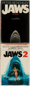 Books:Horror & Supernatural, Peter Benchley. Jaws. With Jaws 2 by Hank Searls. NewYork: Doubleday, 1974 and 1978. Later edition of Jaws, ...(Total: 2 Items)