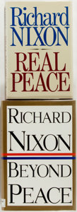 Books:Americana & American History, Richard Nixon. Two First Editions, One SIGNED. Includes RealPeace and Beyond Peace, Signed by Nixon at flyleaf.Oct... (Total: 2 Items)