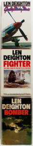 Books:World History, Len Deighton. Group of Three Books Including Fighter, Bomber, and Goodbye Mickey Mouse. Various publishe... (Total: 4 Items)