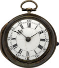 Timepieces:Pocket (pre 1900) , William Peck, Bolnhurst, Early Verge Fusee, circa 1769. ...