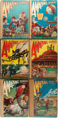 Books:Science Fiction & Fantasy, [Pulps]. Six Issues of Amazing Stories, Vol. 1, Nos. 4-9. June-December, 1926. Chicago: Ziff-Davis, [1926]. Original... (Total: 6 Items)