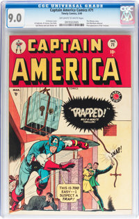 Captain America Comics #71 (Timely, 1949) CGC VF/NM 9.0 Off-white to white pages