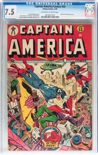 Captain America Comics #53 (Timely, 1946) CGC VF- 7.5 Off-white to white pages