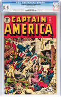 Golden Age (1938-1955):Superhero, Captain America Comics #38 (Timely, 1944) CGC VF+ 8.5 Cream to off-white pages....