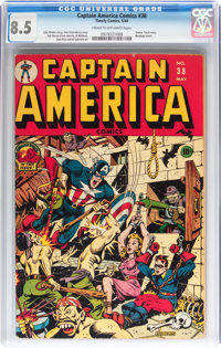 Captain America Comics #38 (Timely, 1944) CGC VF+ 8.5 Cream to off-white pages
