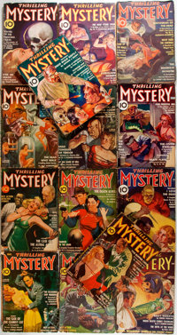 [Pulps]. Fourteen Issues of Thrilling Mystery. Beacon Magazines, [1935-1944]. Original printed