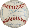 Autographs:Baseballs, 1960 New York Yankees Team Signed Baseball, PSA/DNA NM+ 7.5....