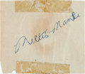 Autographs:Others, 1955-56 Mickey Mantle & Casey Stengel Signed Cut with MantlePhotograph....