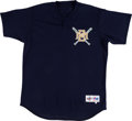 Baseball Collectibles:Uniforms, 1995-96 Rollie Fingers Game Worn Milwaukee Brewers Commemorative/Instructor Jersey. ...
