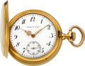 Timepieces:Pocket (pre 1900) , Patek Philippe Gold Watch For Shreve & Co., circa 1900. ...