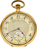 Timepieces:Pocket (post 1900), Golay Fils & Stahl Geneva Gent's 18k Gold Pocket Watch, circa1915. ...
