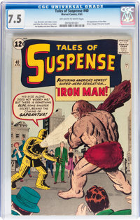 Tales of Suspense #40 (Marvel, 1963) CGC VF- 7.5 Off-white to white pages