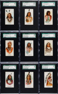 "Non-Sport Cards:Sets, 1888 N2 Allen & Ginter ""American Indian Chiefs"" SGC GradedPartial Set (22/50). ..."