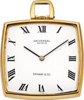Timepieces:Pocket (post 1900), Universal Geneve 18k Gold Watch For Tiffany & Co.. ...