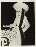 "Movie/TV Memorabilia:Autographs and Signed Items, Mae West Signed Photo. Stylish b&w 8"" x 10"" photo of West,inscribed and signed by her in black felt tip. In Excellentcondi... (Total: 1 Item)"