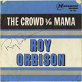 "Music Memorabilia:Autographs and Signed Items, Roy Orbison Autographed ""The Crowd""/""Mama"" 45 Record Sleeve. ""The Crowd"" / ""Mama"" 45 record sleeve signed by the legendary P... (Total: 1 Item)"