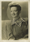 "Movie/TV Memorabilia:Autographs and Signed Items, Bette Davis Signed Photo. A very nice b&w 5"" x 7"" portraitinscribed and signed by the actress in black ink. In Very Fineco... (Total: 1 Item)"