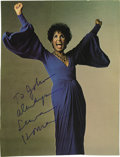 """Music Memorabilia:Autographs and Signed Items, Lena Horne Signed Photo. A color 8"""" x 10"""" photo inscribed andsigned by the singer in blue felt tip. In Excellent condition....(Total: 1 Item)"""