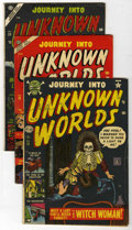 Golden Age (1938-1955):Horror, Journey Into Unknown Worlds Group (Atlas, 1952-55) Condition:Average VG.... (Total: 5 Comic Books)