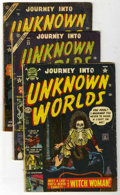 Golden Age (1938-1955):Horror, Journey Into Unknown Worlds Group (Atlas, 1952-57) Condition:Average GD.... (Total: 8 Comic Books)