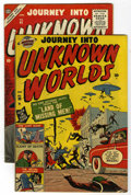 Golden Age (1938-1955):Horror, Journey Into Unknown Worlds #38 (#3) and 41 Group (Atlas, 1951-56)Condition: Average FN.... (Total: 2 Comic Books)
