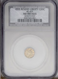 California Fractional Gold: , 1855 50C --Scratched--Liberty Round 50 Cents, BG-405, R.5, NCS. AUDetails. PCGS Population (0/28). (#10...