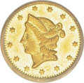 California Fractional Gold: , 1853 50C Liberty Round 50 Cents, BG-428, R.3, MS62 PCGS. PCGSPopulation (70/31). (#10464)...