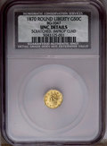 California Fractional Gold: , 1870 50C Goofy Head Round Liberty Gold 50 Cents, BG-1047, HighR.4--Improperly Cleaned, Scratched--NCS. Unc Details. NGC Ce...