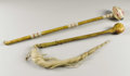 Paintings, TWO SIOUX STONEHEAD WAR CLUBS. . c. 1880. ... (Total: 2 Items)
