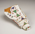 American Indian Art:Beadwork, A SIOUX BEADED LEATHER HOLSTER. c. 1890. ...