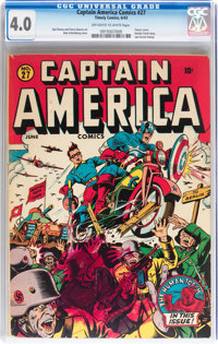 Captain America Comics #27 (Timely, 1943) CGC VG 4.0 Off-white to white pages