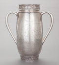 Silver Holloware, American:Loving Cup, A GORHAM SILVER ACID ETCHED HANDLED TROPHY CUP. GorhamManufacturing Co., Providence, Rhode Island, 1887. Marks:(lion-ancho...