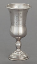Silver & Vertu:Hollowware, A SILVER KIDDUSH CUP. Maker unidentified, 20th century . Marks: STERLING, A.C.. 5-1/4 inches high (13.3 cm). 2.92 troy o...