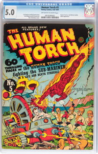 The Human Torch #5 (Timely, 1941) CGC VG/FN 5.0 Off-white to white pages