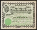 Baseball Collectibles:Others, 1906 St. Louis American (Browns) Base Ball Co. StockCertificate....