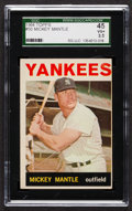 Baseball Cards:Singles (1960-1969), 1964 Topps Mickey Mantle #50 SGC 45 VG+ 3.5. ...