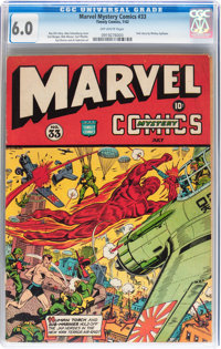 Marvel Mystery Comics #33 (Timely, 1942) CGC FN 6.0 Off-white pages