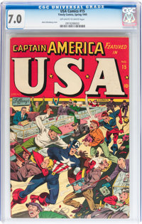 USA Comics #15 (Timely, 1945) CGC FN/VF 7.0 Off-white to white pages
