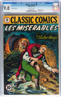 Golden Age (1938-1955):Classics Illustrated, Classic Comics #9 Les Miserables - Original Edition - Cover StockVariant (Gilberton, 1943) CGC VF/NM 9.0 Off-white pages....