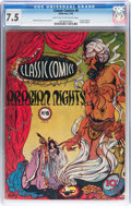 Golden Age (1938-1955):Classics Illustrated, Classic Comics #8 Arabian Nights - Original Edition (Gilberton, 1943) CGC VF- 7.5 Light tan to off-white pages....