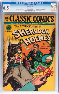 Classic Comics #33 The Adventures of Sherlock Holmes - Original Edition (Gilberton, 1947) CGC FN+ 6.5 Off-white pages...