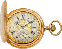 A. Lange & Söhne Exceptional Ornate Gold Hunters Case, circa 1910
