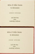 Books:Literature 1900-up, [Miniature Books]. John Updike. SIGNED. Mites and Other Poems inMiniature. Northridge: Lord John Press, 1990. Two c...