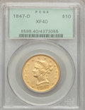 Liberty Eagles: , 1847-O $10 XF40 PCGS. PCGS Population (123/285). NGC Census:(70/622). Mintage: 571,500. Numismedia Wsl. Price for problem ...